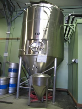 That was then (1.5 barrel fermenter) and this is now (30 barrel fermenter).
