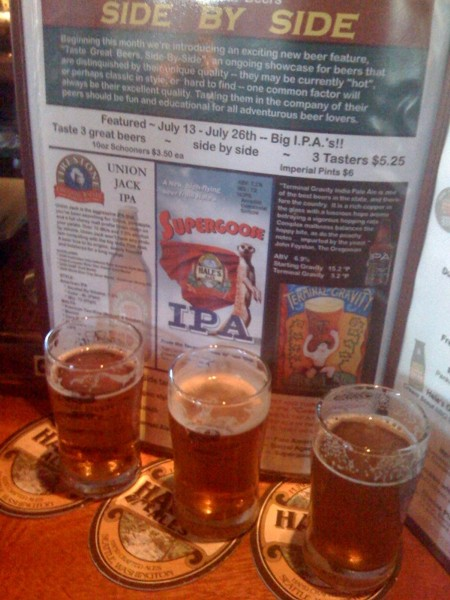 Photo circa 2009, when a side-by-side IPA tasting was a novel event.