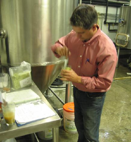 "Darren Gamache mixes a ""hop tea"" with the HBC 369."