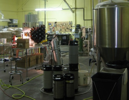 A working brewery - small, but busy making good beer.