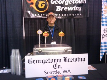 Lisa Uhrich (Georgetown Brewing) posted this photo of the Georgetown table at Oktoberfest on Facebook today. We assume she doesn't mind us using it here.