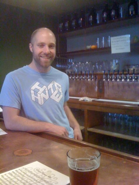 Adam Orrick. Brewer, bartender, janitor and host.