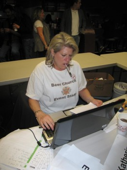 Frances is the Beer Church Controller. She handles all the scoring to make sure everythis is on the up-and-up.