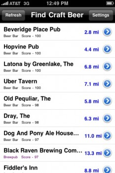 The results above, based on my location in West Seattle. Oops. Missed a few.