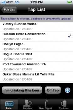 The tap list for Collins Pub. Best of all, I can fix it if it's wrong.