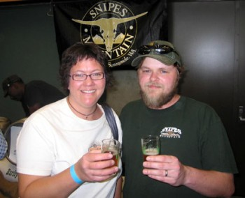 That Kim (Mrs. Beer Blog) with Chris Miller at last year's Washington Cask Beer Festival.