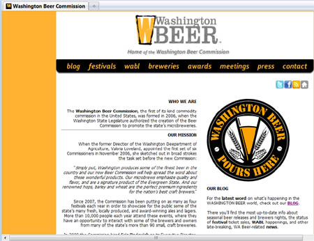 WA Beer Commission's new Web site