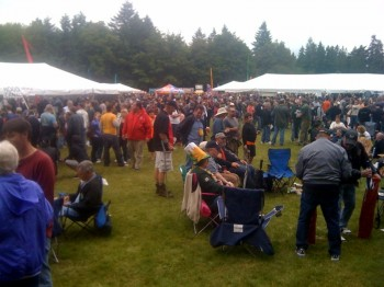 Last year: Looking out across the Saturday afternoon crowd from the Washington Beer Blog booth.
