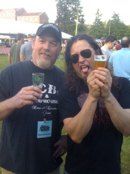 Don Webb (Naked City Brewing) with Michael Wilton