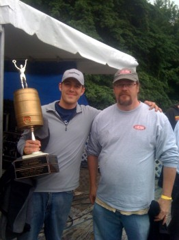 Ross, the victor, with last year's champion Drew Cluley (Pike Brewing).