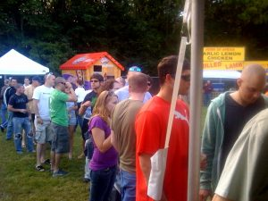 The line at the Black Raven tent was long all weekend.