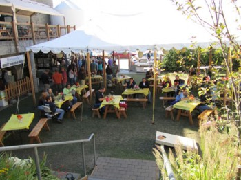 Boundary Bay's beer garden truly is a garden.