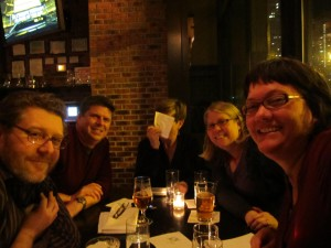 Dining at The Gage with friends from Chicago (including one silly one)