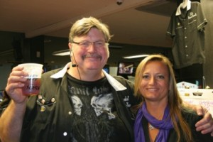 Kendall (Mr. Beer Blog and Beer Church Elder) with Michele Smith (Beer Church High Priestess).