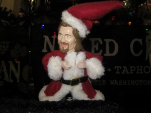 Best taphandle: Le Dude is ready for the holidays too.