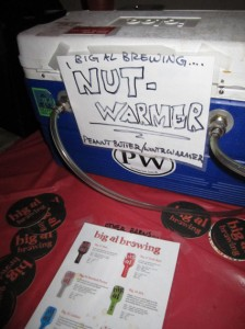 Last year's Nut Warmer - a Peanut Butter Winter Warmer from Big Al Brewing.