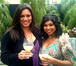 Christina Palazzo (left) and Aarti .