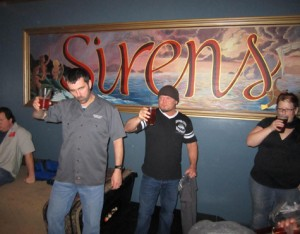 Don Spencer (Big Daddy) leads a group toast at Sirens Pub. That's how we kicked things off at Strange Brewfest this year.