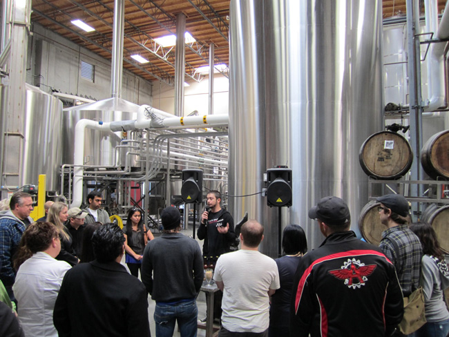 Big brewery, big tour. (Stone Brewing)
