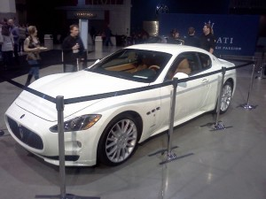 Maserati Granturismo, one of the cars for sale at the Grand Tasting.