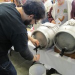 Matt Lincoln (Fremont Brewing) pouring for the crowd
