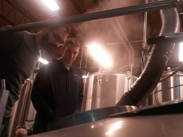 Chris Ray watches the boil at Fremont Brewing in 2011.