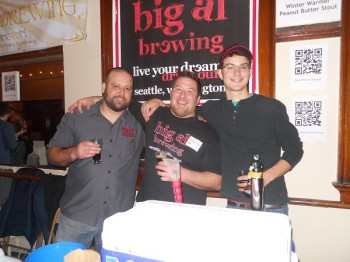 big al brewing at pna winter beer taste