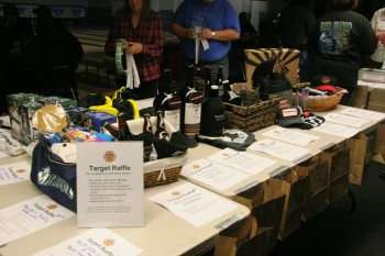 An impressive spread of prizes donated by our generous sponsors.