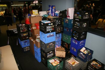 Just some of the food donated at Turkey Bowl this year.