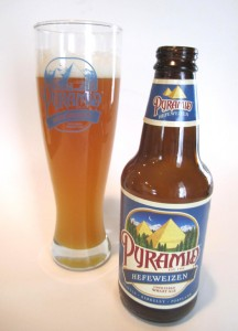 The new, old Pyramid Hefeweizen. Nothing haywire about it.