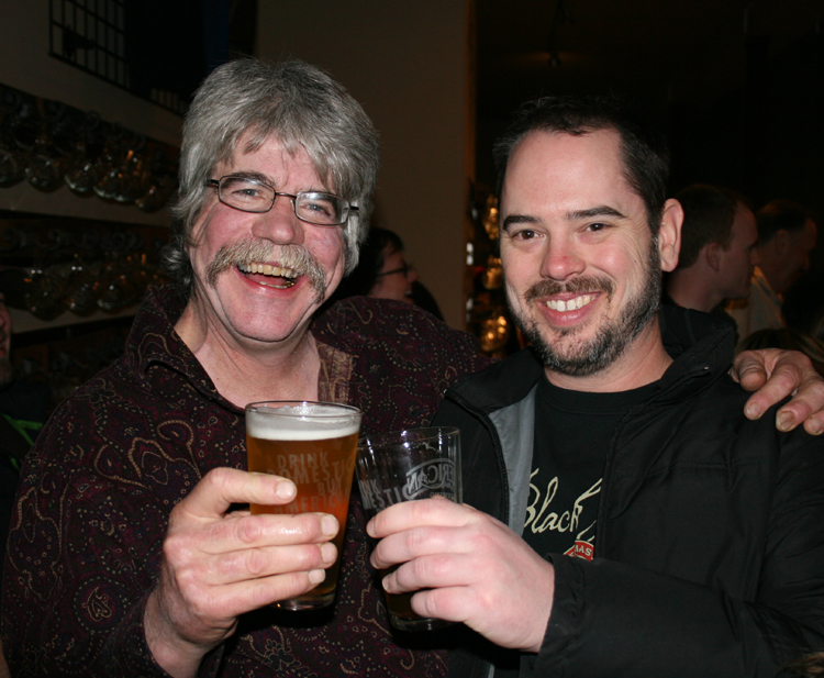 Skip Madsen with Beaux Bowman (Black Raven Brewing).