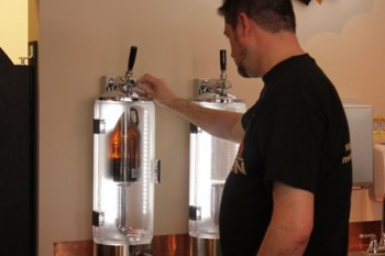 High-tech (Star Trek looking)  growler filling station