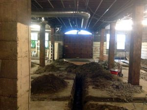 Picutred: The entry to what will be the tap room, taken from what will be the cold room.