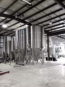 Shiny new fermenters. Photo unceremoniously boosted from Goodlife's Facebook page.