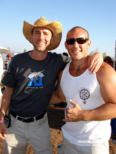 Maui Brewing Founder Garrett Marrero and Stone Co-founders Greg Koch.
