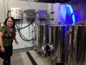 Lisa Rough and the Tin Dog brewing system