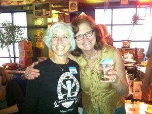 Carol Stoudt and Mari Kemper at last year's event