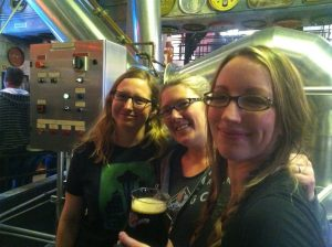 Women of Pike, brewing beer for the event