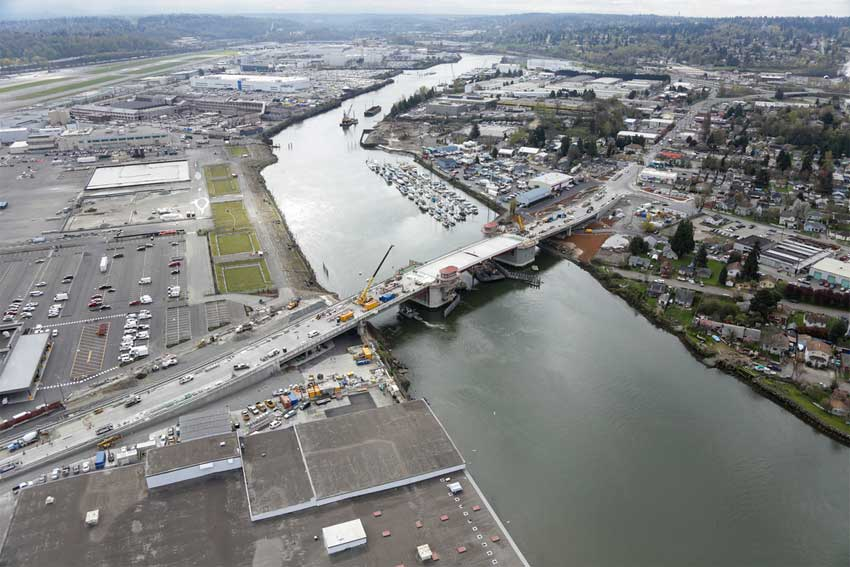 The new South Park Bridge. Photo by King County.