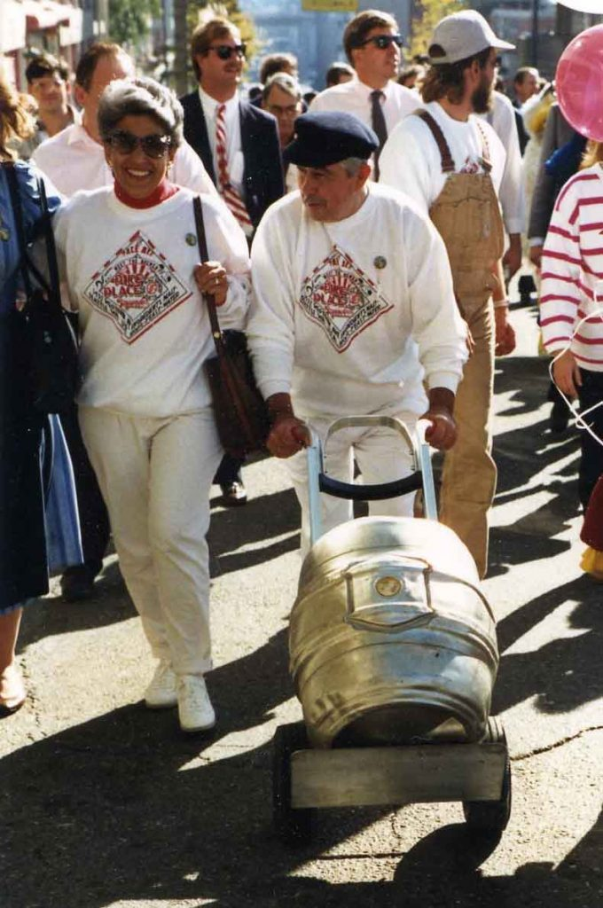 Delivering the first keg of Pike Pale Ale on October 17, 1989.