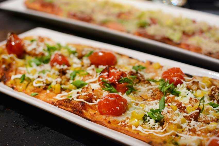 Flatbread with Mexican flare.