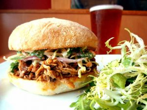 Pulled pork sandwich at Schooner Exact, a personal favorite.