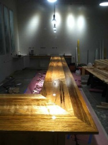 Taken a couple weeks ago, this picture shows the happily large bar at the taproom. Lifted from the Holy Mountain Facebook page.