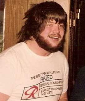 That's me, circa 1984, in one of my many Rainier Beer shirts.