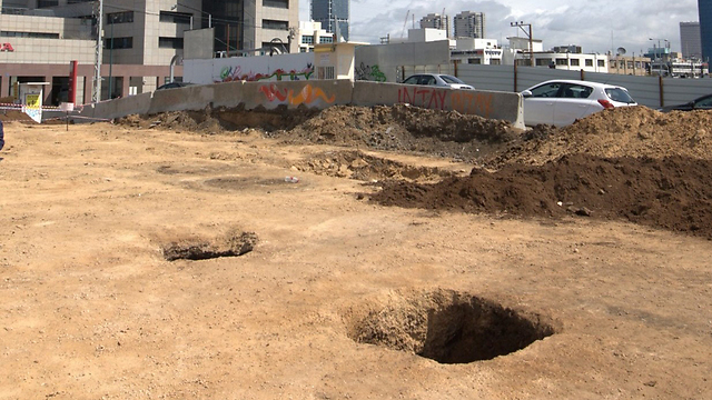 The dig site in Tel Aviv. Photo credits: Israel Antiquities Authority.