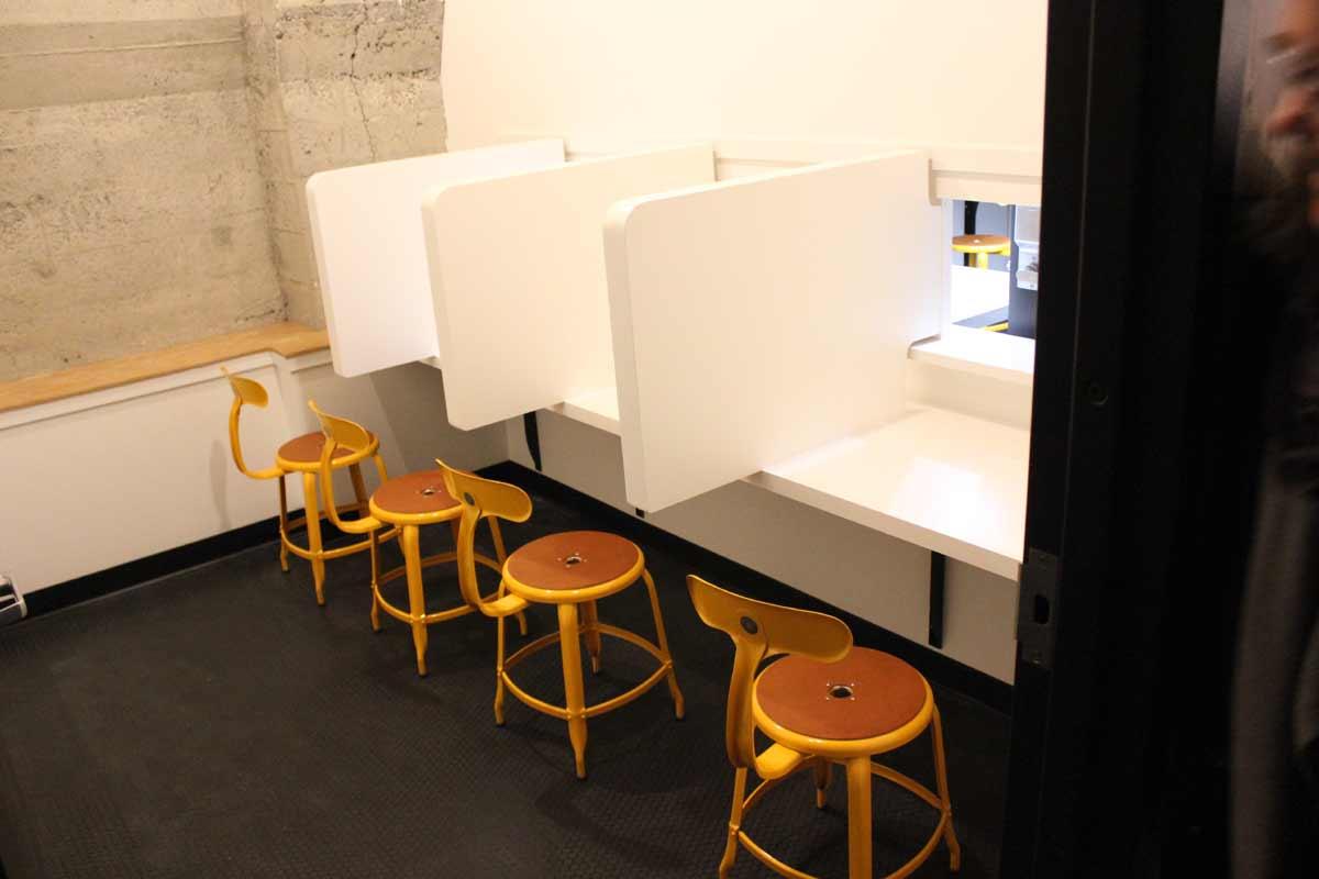 Sensory analysis room.