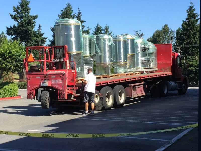 Brewing equipment arrived in June. Picture pinched from Facebook.