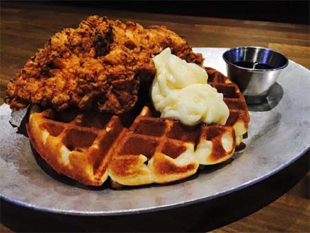 Yep. Chicken and waffles.