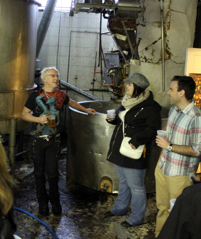 James Walton talks beer at the brewery.