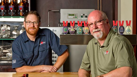 Caption: Victory Brewing Co. founders Bill Covaleski and Ron Barchet are teaming with New York's Southern Tier Brewing Co. (Photo: Courtesy of Victory Brewing Company)
